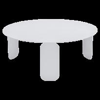 Table basse BEBOP de Fermob, D. 80, Blanc coton