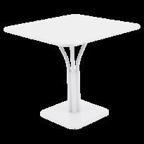 Table carrée LUXEMBOURG de Fermob, Blanc coton