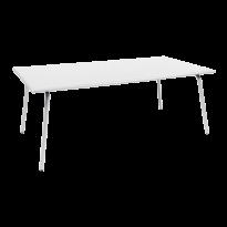 Table haute MONCEAU de Fermob, 194x94x74, Blanc coton