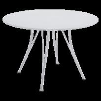 Table ronde RENDEZ-VOUS de Fermob blanc coton