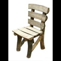 Chaise rondins CAHUTE en Teck flotté