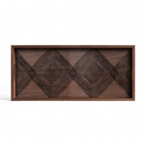 Plateau Walnut Linear Squares de Ethnicraft Accessories, 69 x 31 cm