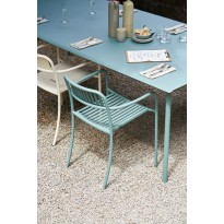 Table PATIO rectangulaire de Tolix, 200 x 100 cm, Citron