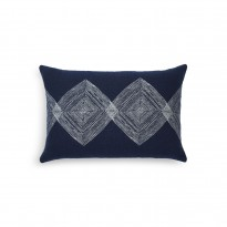 Coussin Navy Linear Diamonds d