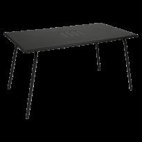 Table haute MONCEAU de Fermob, 146x80x74, Réglisse