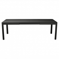 Table à allonges RIBAMBELLE de Fermob, 2 allonges, Réglisse