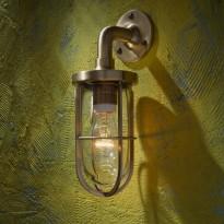Applique DOCKLIGHT WALL de Nautic, Bronze poli, Verre clair