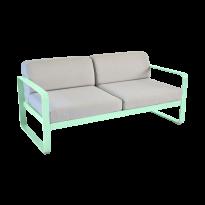 Canapé BELLEVIE de Fermob, Coussin Gris flanelle, Vert opaline