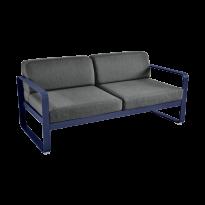 Canapé BELLEVIE de Fermob, coussin gris graphite, Bleu abysse