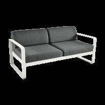 Canapé BELLEVIE de Fermob, coussin gris graphite, Gris argile