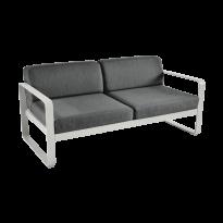 Canapé BELLEVIE de Fermob, coussin gris graphite, Gris métal