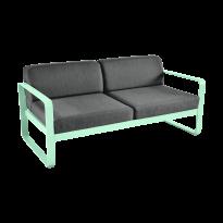 Canapé BELLEVIE de Fermob, coussin gris graphite, Vert opaline