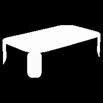Table basse rectangulaire BEBOP de Fermob, H.29, Blanc coton