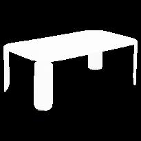 Table basse rectangulaire BEBOP de Fermob, H.42, Blanc coton