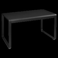 Table BELLEVIE de Fermob, 140 x 80, Réglisse