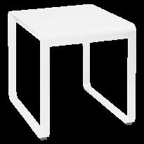 Table BELLEVIE de Fermob, 74 x 80, Blanc coton