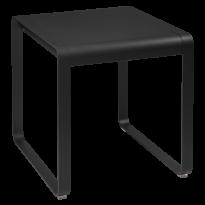 Table BELLEVIE de Fermob, 74 x 80, Réglisse