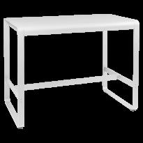 Table haute BELLEVIE de Fermob, 140 x 80, Blanc coton