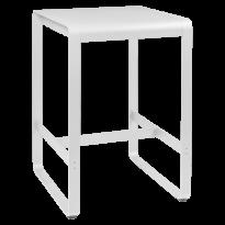 Table haute BELLEVIE de Fermob, 74 x 80, Blanc coton
