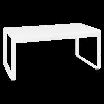 Table mi-haute BELLEVIE de Fermob, 140 x 80, Blanc coton
