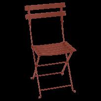 Chaise BISTRO métal de Fermob, Ocre rouge