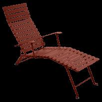 Chaise longue pliante BISTRO de Fermob, ocre rouge