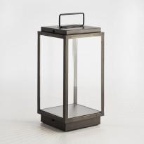 Lanterne portable BLAKES de Nautic - LED, Bronze patiné foncé, Verre clair