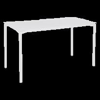 Table haute CALVI de Fermob, Blanc coton