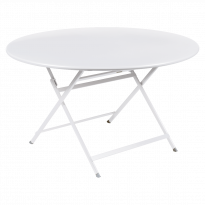 Table ronde CARACTÈRE de Fermob, Blanc coton