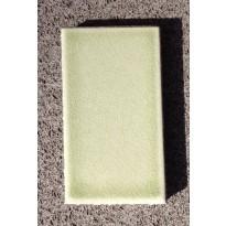 Table en pierre de lave émaillée 210 x 110, piètement directoire, Céladon