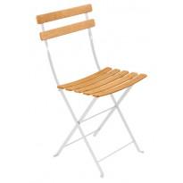 Chaise BISTRO NATUREL bois de Fermob, Blanc Coton