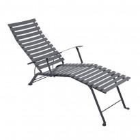 Chaise longue pliante BISTRO de Fermob, Gris Orage