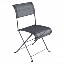 Chaise pliante DUNE PREMIUM de Fermob, Carbone