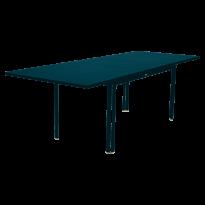 Table à allonge COSTA de Fermob, bleu acapulco