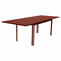 Table à allonge COSTA de Fermob, ocre rouge