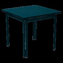 Table carrée COSTA de Fermob, bleu acapulco