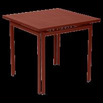 Table carrée COSTA de Fermob, ocre rouge