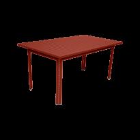 Table COSTA de Fermob, ocre rouge