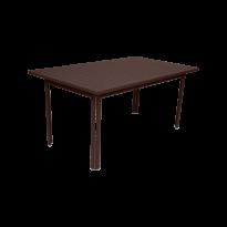 Table COSTA de Fermob, Rouille