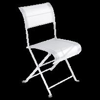 Chaise pliante DUNE PREMIUM de Fermob, Blanc coton