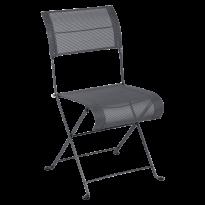 Chaise pliante DUNE PREMIUM de Fermob, Carbone Stéréo