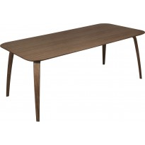 Table rectangulaire de Gubi, 100 x 200 cm, Noyer