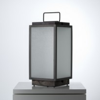 Lanterne portable BLAKES de Nautic - LED, Bronze patiné foncé, Verre sablé