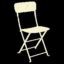Chaise pliante LORETTE métal de Fermob, Citron givré