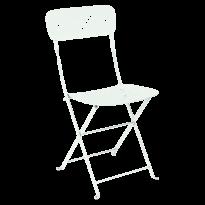 Chaise pliante LORETTE métal de Fermob, menthe glaciale
