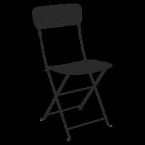 Chaise pliante LORETTE métal de Fermob, Réglisse