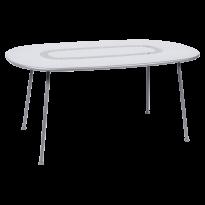 Table ovale LORETTE 160 x 90 cm de Fermob, Blanc coton