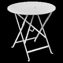 Table pliante ronde LORETTE de Fermob, Blanc coton, D. 77