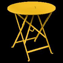 Table pliante ronde LORETTE de Fermob, Miel, D. 77