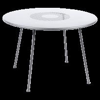 Table ronde LORETTE Ø.110 cm de Fermob, Blanc coton